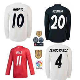 Real Madrid home white Soccer Jersey 17 18 Real Madrid away Soccer shirt 2019 KROOS ISCO ASENSIO BALE third Football uniform long sleeve