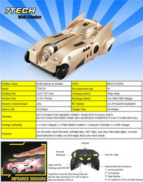 7TECH Remote Control Car Toy, Cool Rechargeable RC Wall Climbing Car with Mini Control Dual Mode 360° Rotating Stunt Car LED Head Gravity-De