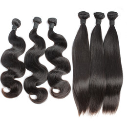 Brazilian Body Wave Virgin Remy Human Hair Weaves Unprocessed Hair Straight Hair Extensions Weft Amazing yourself Bellahair 7A