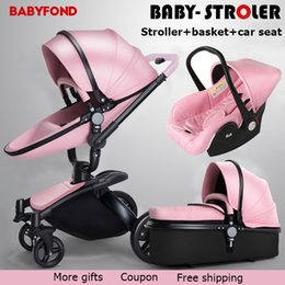 Aulon 3 In 1 Baby Stroller Folding Two Way Push Luxury High Landscape Carriage With Comfortable Car Seat Trolley Babyfond