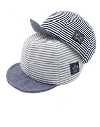 2018 Fashion Baby Hats For Boys Girls Baseball Cap Children Snapback Cap Boys Mesh hat Cotton Striped Summer Cap free shipping 2018 new hot