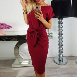 Women's belt pocket dress European and American spring new style fashion high-quality women's belt pocket dress