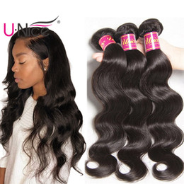 UNice Hair Raw Indian Body Wave 3 Bundles 100% Human Hair Weave 8-30inch Virgin Human Hair Extensions Wavy Weave Wefts Wholesale Cheap Bulk