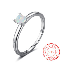 RI102908 promise rings for couples FGJL fashion jewelry prinecess cut opal 925 sterling silver engagement ring italian silver ring jewellry