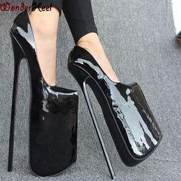 12inch heel patent leather pump EXTREME high HEEL 30CM high heel with platform women pump Sexy fetish high Heels sexy pump