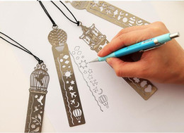 Cute Kawaii Creative Horse Birdcage Hollow Metal Bookmark Ruler For Kids Student Gift School Supplies Free Shipping free shipping 2019 new