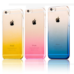 free ship Top Quality Gradient Case for iPhone 6 6s 4.7'   6 Plus 6s Plus 5.5' 7 TPU Case Soft Dual Silicon Cover Fundas for iPhone 6s 2018