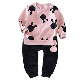 Children Boy Girl Clothes Kid Autumn Full Sleeve Cotton T-shirt Cartoon Cotton And Shorts 2pcs Suit Baby Fashion Brand Tracksuit