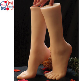 Top Quality New Sex Products,Soft Feet Fetish Toys for Man, Girl Lifelike Female Feet,Fake Feet Model for Sock Show