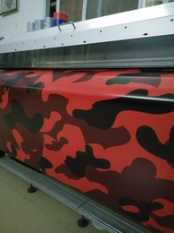 2018 Red Camo Vinyl Car Wrap COVERS With Air Rlease Gloss  Matt Arctic blue Camouflage covering 1.52x 10m  20m   30m