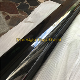 Piano Gloss Black Vinyl Wrap High Gloss SHINY Car Wrap Film Air Bubble Free Vehicle Wrap Covering Foil