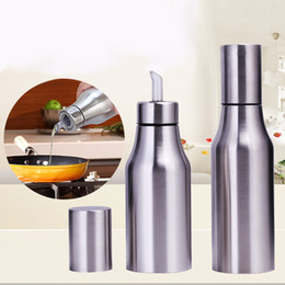 Kitchen oil bottle multi function leakproof controllable kitchen supplies 304 stainless steel oil bottle kitchen oil pot 500ml