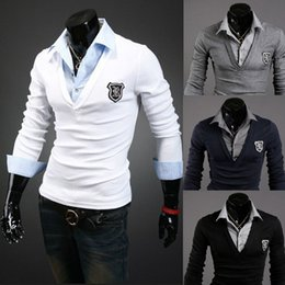 2018 Summer Wear Mens Polo Shirt Business Plus Size S-2XL Cotton Breathable Polo Shirt Men Slim Fit Long Sleeve White Solid Polo Shirt