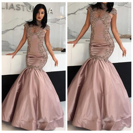 Ziad Nakad Cap Sleeveless Evening Dresses 2018 Long Prom Sexy Party Gowns Beaded Prom Party Gowns Formal vestido de festa Lace Aappliques