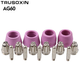 30PCS Air Plasma Cutter AG-60 Cutting torch gun Head Consumable For CUT40 50 60A Consumables Tips Electrodes