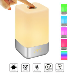Wake Up Light Alarm Clock with Sunrise Simulation LED Night Light Clocks Touch Lamps with 7 Colors  5 Natural Sounds  3 Brightness  USB