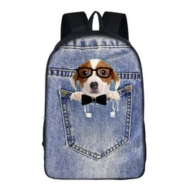 Cute Pet Dog Teens School backpack Double Cell Shoulder Book Bags Waterproof Travel Rucksack Customized Accept