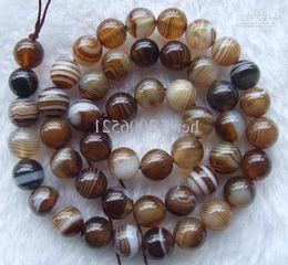 Coffee Vein Agate Round Beads 8mm 15.5inchs