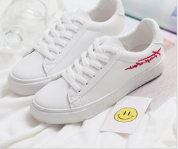 new spring summer and autumn woman causal student running Skateboard shoes lace up PU leather shoes US SIZE 4.5-8 8025