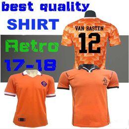 top quality 88 89 Soccer Jersey Retro Netherlands Van Basten Gullit 98 99 Voetbal Shirt Seedorf Bergkamp Holland 1988 1998 Football Shirts