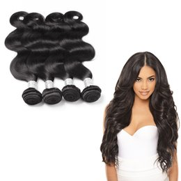 Unprocessed Human Hair Brazilian Body Wave 4Pcs Human Hair Bundles Double Weft Peruvian Hair Weave Bundles