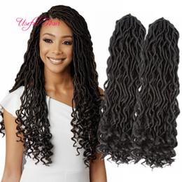 Soft faux locs 18inch dreadlocks braids synthetic hair extension dreads 24strands pcs faux locs crochet synthetic dreads braiding hair marly