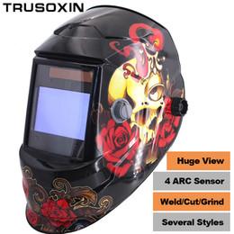 NEW Clown Big View Eara 4 Arc Sensor DIN5-DIN13 Solar Auto Darkening TIG MIG MMA Grinding Welding Mask Helmet Welder Cap Glasses