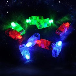 100pcs 4x Colo100pcs OPP Packing LED Laser Finger Beams Party Light-up Finger Ring Laser Lights With Retail packing