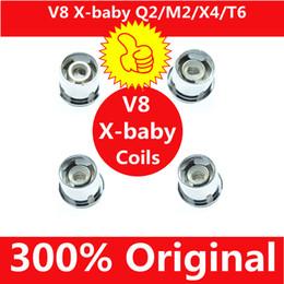 300% Original TFV8 X-Baby Coil Q2 0.4ohm M2 0.25ohm X4 T6 Dual Coils Replacement Head For TFV8 X-Baby Tanks Genuine