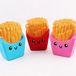 1pc Doughnut banana French Fries Squishy Slow Rising Kawaii Cute Scented Sweet Cream Charms Bread Kids Toy Gift cell phone Strap free ship