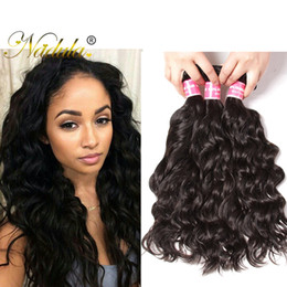 Nadula Peruvian Hair 4Bundles Natural Wave Human Virgin Hair Extensions 8-26inch Cuticle Aligned Hair Wefts Natural Weave Wholesale Cheap