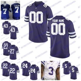 Custom Kansas State Wildcats College Football Any Name Number Personalized #5 Alex Delton Jerseys Men Women Kids Stitched