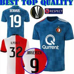 18 19 UEFA Europa CUP Camiseta de fútbol FeyenoordS hogar lejos 2018 2019 11 LARSSON 32 V.PERSIE 19 BERGHUIS 10 VILHENA 9 JORGENSEN JERSEY SHIRT