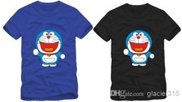 Free shipping New arrival Chinese SIze S-XXXL Doraemon t-shirt funny tshirts couple tee 100% cotton 6 color