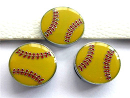 8mm softball slide Charms fit for 8mm bands DIY accessory