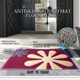 PVC 60*90CM floor MATS Ceng foot mat Spelling a flower Door mats Rugs Outdoor floor MATS