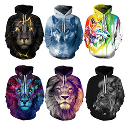 Youthcare Hoodie for Men and Women 3D printed Hoodie Lions Oversize Pullover Long sleeve tops Sweater