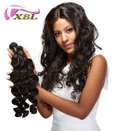 XBL Different Hair Style Virgin Human Hair Weave Peruvian Human Hair Weave Within Top Lace Closure