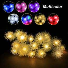 Solar outdoor garden lights fur ball 30LED holiday wedding garden decoration energy-saving lantern