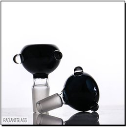 Factory wholesale black bowl 18.8mm glass bowls for water pipe bongs use for oil rig
