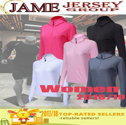 new Wholesale price Fitness Yoga Running Jackets Women Gym Wear Long Sleeves Hooded Coat Compression Training Clothing for Sportswear K803