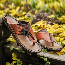 Famous brand designer summer men's outdoor Beach slippers sandals Slides men's large size flip-flops Slides