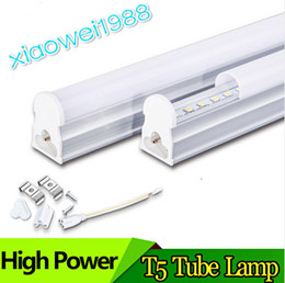 T5 1200mm Integrated 4FT LED Tube Light Lamp 96pcs SMD 2835 High Power 22W 2100lm Warm Natural Cool White AC 85-277V