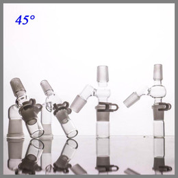 Glass catcher Manufacturer 14mm Angled Female Male Adapter Complete re Set for oil three parts for this set smoking accessories