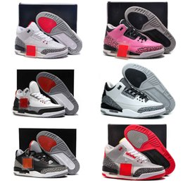 High Quality OG 3 Mens Womens Basketball Shoes GS 3s Infrared Wolf Grey Wine Red Purple Leather Trainer Men Sneakers Shoes With Box