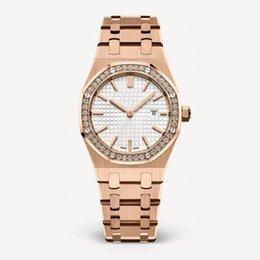 2018 Nuevo estilo de moda reloj de dama para mujer con gran dial, oro rosa, brazalete de acero, reloj de lujo, relogies de alta calidad para mujeres