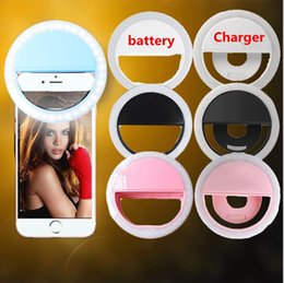 LED selfie ring light Flash spotlight circle round fill in light lamplight speedlite Enhancing photography for ipad 2017 iphone x 8 plus