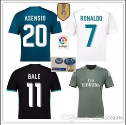new 2018 madrid Jersey Benzema Ronaldo ASENSIO football Soccer Modric Kroos Sergio Ramos Bale Marcelo james Madrid 2017 2018 Real shirts SI