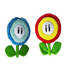 """Hot Sale 6.5"""" 17cm Ice & Fire Flower Super Mario Bros Flowers Plush Stuffed Doll Toy For Kids Best Holiday Gifts"""