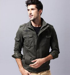 New winter men's jacket, military jacket, casual wear, large size vertical collar, pure cotton pure color jacket, factory direct sale.